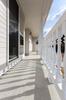 岡崎市注文住宅 A様邸 玄関テラス 和室の前から気軽に出入りできます。