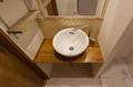 名古屋市リノベーション 実例A 飲食店などのお店を思わせるオリジナルの洗面台です。