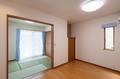 リビング、和室を合わせると約12帖の広さとなり、くつろぎの場所をして十分な広さを確保しています。