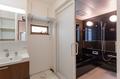 浴槽への入口も出入りがしやすいように、引き戸を採用しています。