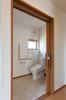 1階トイレは2枚引き戸、手摺を取り付け使いやすいように広さも確保